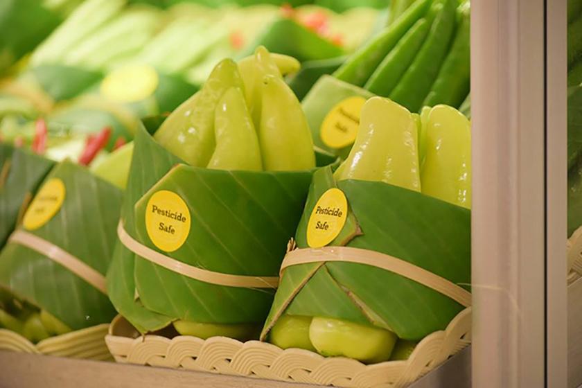 Bár Európában nem áll rendelkezésre nagy mennyiségű, csomagolásra is használható banánlevél, bizonyára lehetne találni alternatívát.