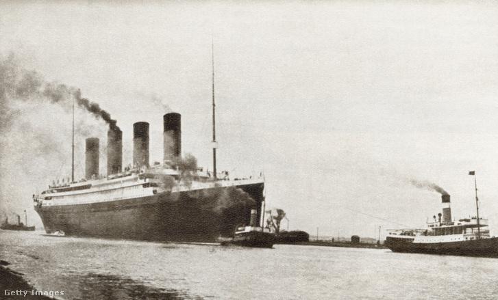 A White Star társaság Titanic hajójáról készült kép, amit 1935-ben publikáltak