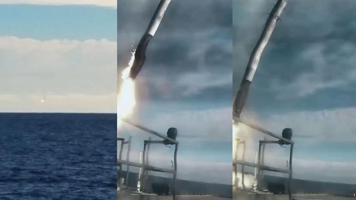 A Falcon Heavy tesztrepüléséről visszaérkező középső rakétatest