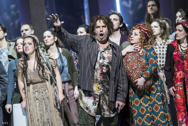 The Hungarian State Opera's artists performing Porgy and Bess