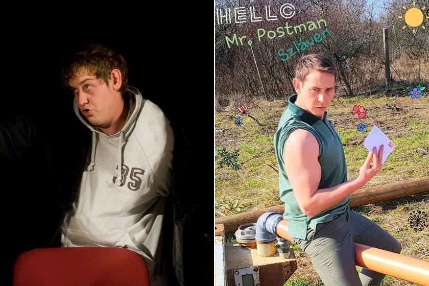 A bal oldali felvétel 2011-ben egy színházi előadás alatt, a jobb oldali idén készült.