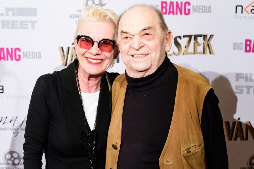 Bodrogi Gyula és Angéla a 2018 márciusában bemutatott Vándorszínészek című magyar film premierjén.