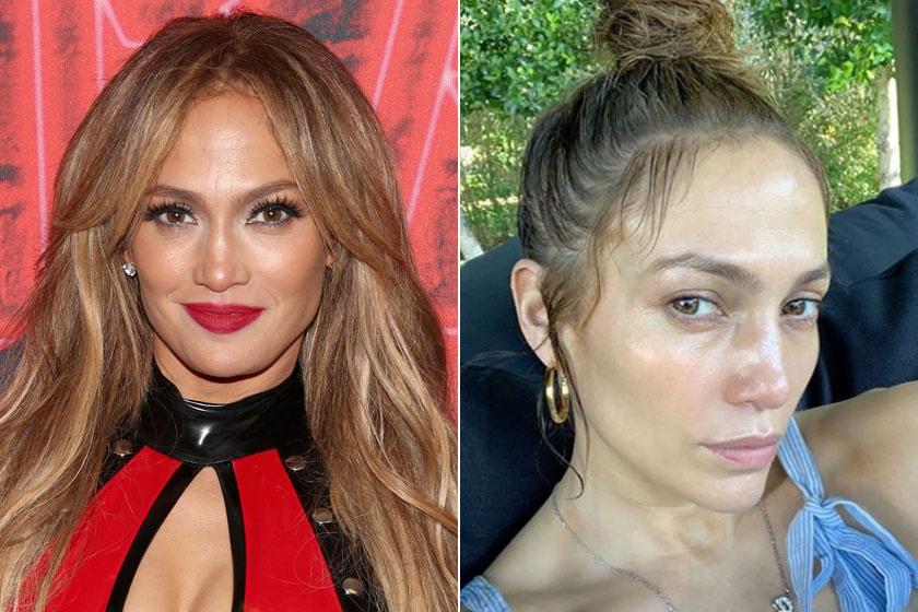 Jennifer Lopez smink nélkül ugyanolyan gyönyörű, mint kifestve. A bőre is nagyon szép.