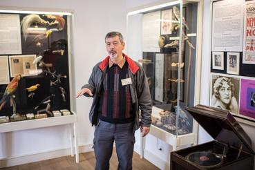 A körmendi múzeumpedagógus Pintér György mutatta be az Udvary-emlékeket