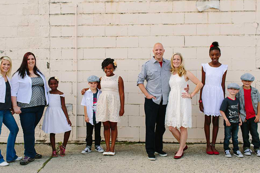 Mike Berry és családja.