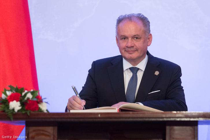 Andrej Kiska szlovák köztársasági elnök