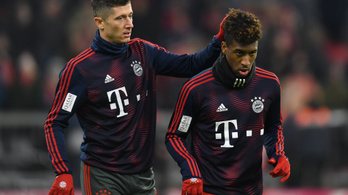 Összeverekedett a Bayern edzésén Lewandowski és Coman