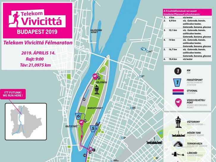 Telekom Vivicittá Félmaraton térkép