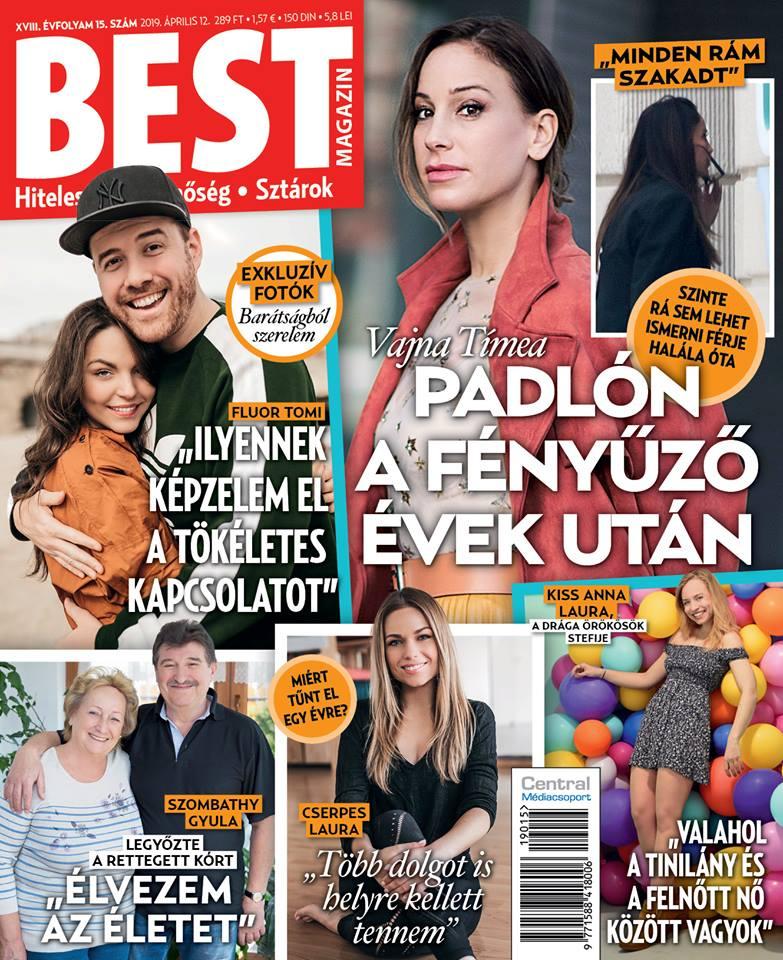 Fluor Tomi és gyönyörű barátnője, Mesi a Best magazin címlapján szerepeltek együtt.
