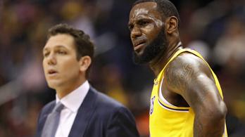 A második Lakers-fejes bukik meg LeBron miatt