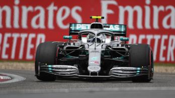 Hamilton támadását visszaverve Bottasé az 1000. F1-futam pole-ja