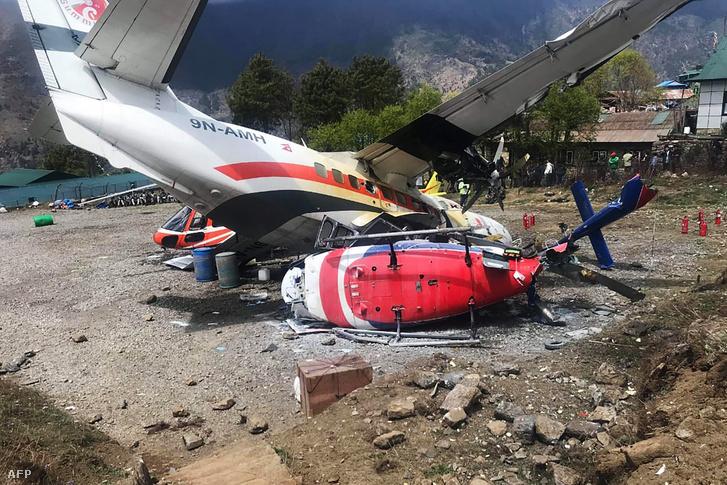 Lukla repülőtéren ütközött neki a helikopternek 2019. április 14-én, Nepálban