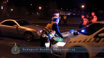 Illegális gyorsulási verseny helyszínén razziáztak budapesti rendőrök