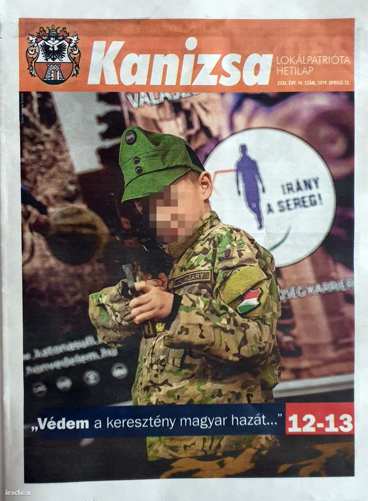 Kanizsa újság címlap