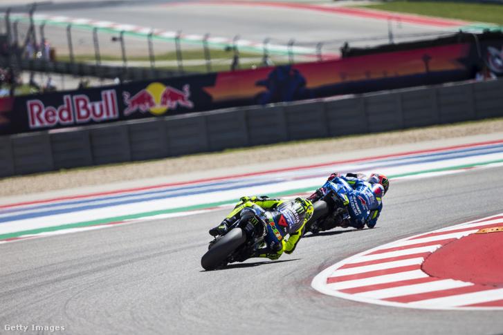 Rossi és Rins az amerikai MotoGP-n 2019. április 14-én