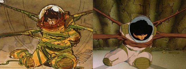 A főhős, Jaffar Moebius vázlatrajzán és a rajzfilmben