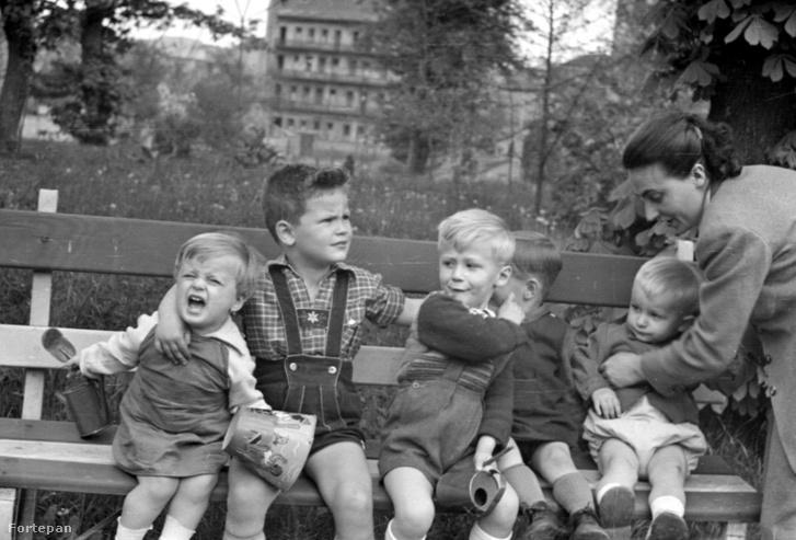 A Honvéd Kórház parkja az '50-es években Fortepan.hu / Adományozó: Mészöly Leonóra