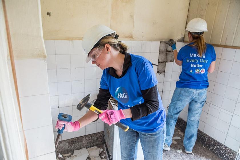 Az önkéntesek szívvel-lélekkel dolgoztak.