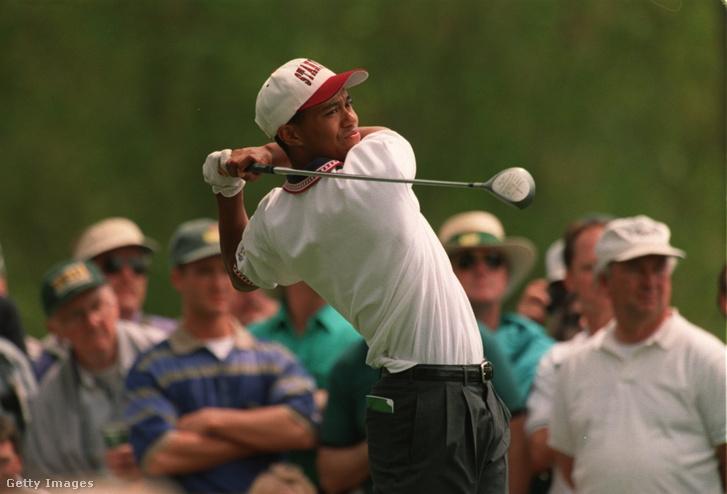 Tiger Woods az 1995-ös augusztai megmérettetésen.