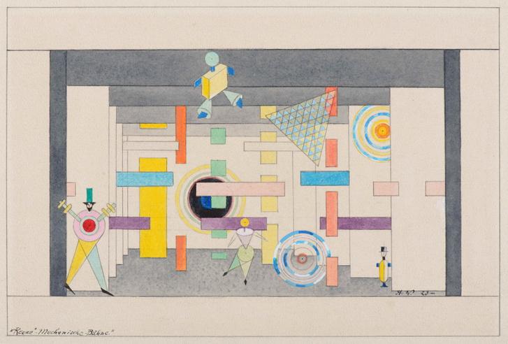 Weininger Andor: Mechanikus színpad – Absztrakt revü, 1923 után (grafika)