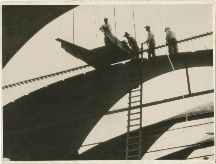 Moholy-Nagy László: Építkezés 1925 k., zselatinos ezüst, MFM