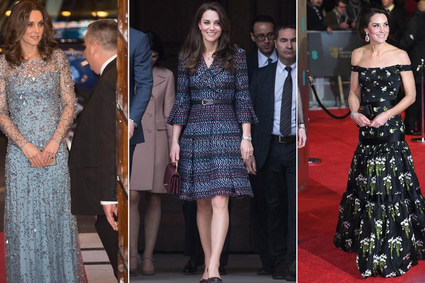 Ezek voltak Katalin hercegné legdrágább ruhái - Majdnem 4 millió forintot ért a legborsosabb árú darabja