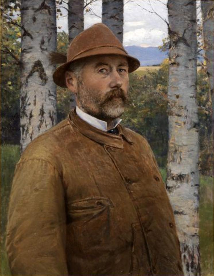 Szinyei önarcképe 1897-ből.