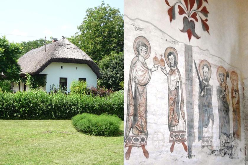 A hangulatos beregi falu, Csaroda szélén csupán néhány parasztház áll felújítva, de itt található az egyik legszebb középkori templomunk, melyet az 1200-as évek második felében építettek. Ezt a kis templomot a középkori freskók, azaz Mosolygós szentek teszik egyedülállóvá.