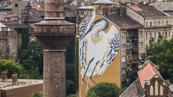 Bauhaus témájúra festik át a Bertalan Lajos utcai kócsagot