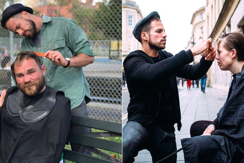 Hajléktalanok haját vágja le ingyen a fodrász - Előtte-utána képeken mutatta meg az átalakulásaikat
