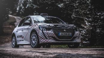Már tesztelik az új Peugeot 208 raliváltozatát