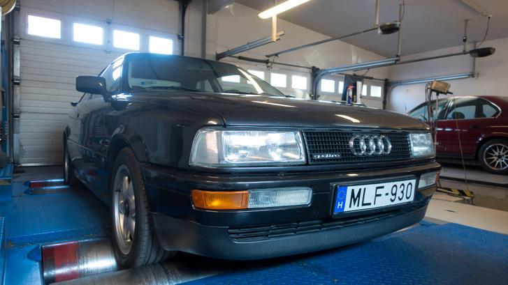 Amikor megszólal az öthengeres Audi - Totalcar Erőmérő: Audi Coupe Quattro 2.3 E