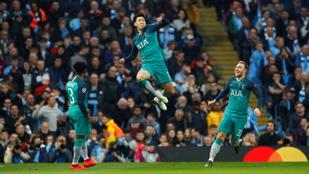 4-3-as dráma után verte ki a Spurs a City-t