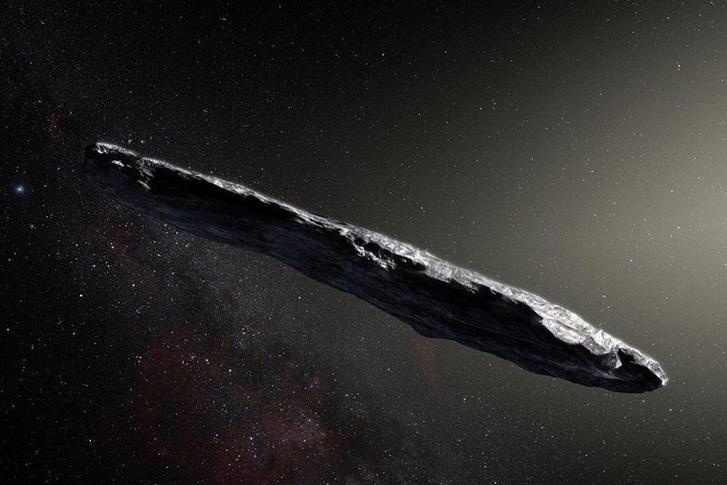 A képen nem a most vizsgált meteorit, hanem az első Naprendszerben azonosított csillagközi objektum, az Oumuamua üstökös látható.