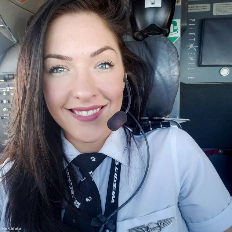 Ismerkedjetek meg Emilie Christine-nel a legszexibb pilótanővel, aki a fellegekbe repít!