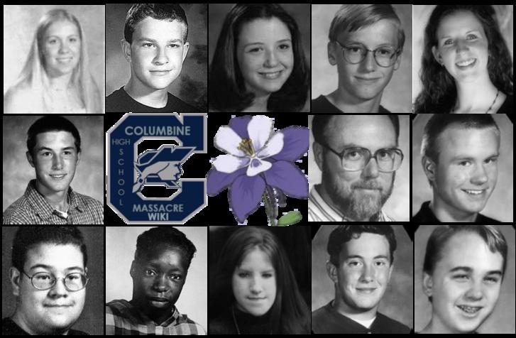 Columbine középiskolai lövöldözés áldozatairól készült tabló
