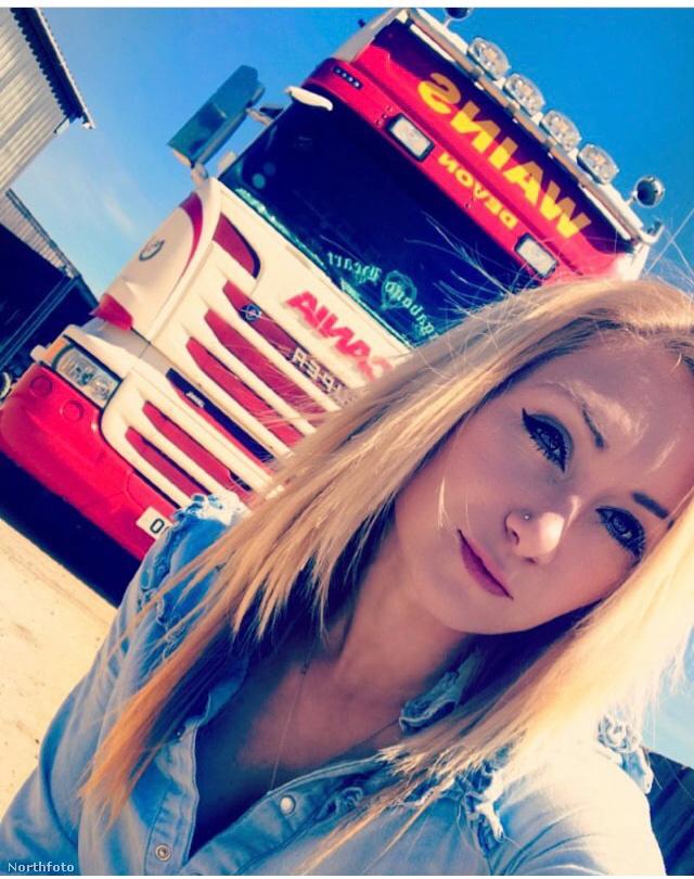 A lány 23 évesen jelentkezett először kamion söfőrnek, de nem akarták vállalni a kockázatot, hogy egy törékeny szőke csajt alkalmazzanak