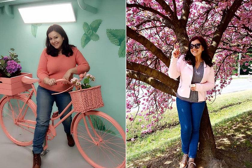 Erdélyi Mónika a fák tavaszi virágba borulására 15 kilót adott le.