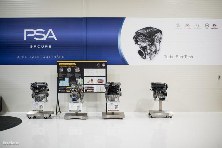 Motorok, amiket az Opel gyárt Szentgotthárdon.