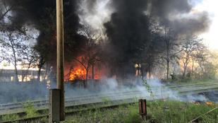 Tűz van Budapesten a Campona környékén