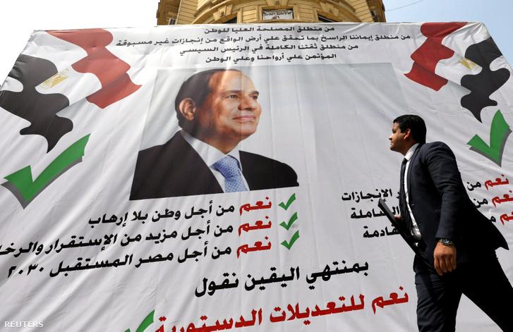 2030-ig maradhat az egyiptomi elnök, ha nyer a népszavazáson
