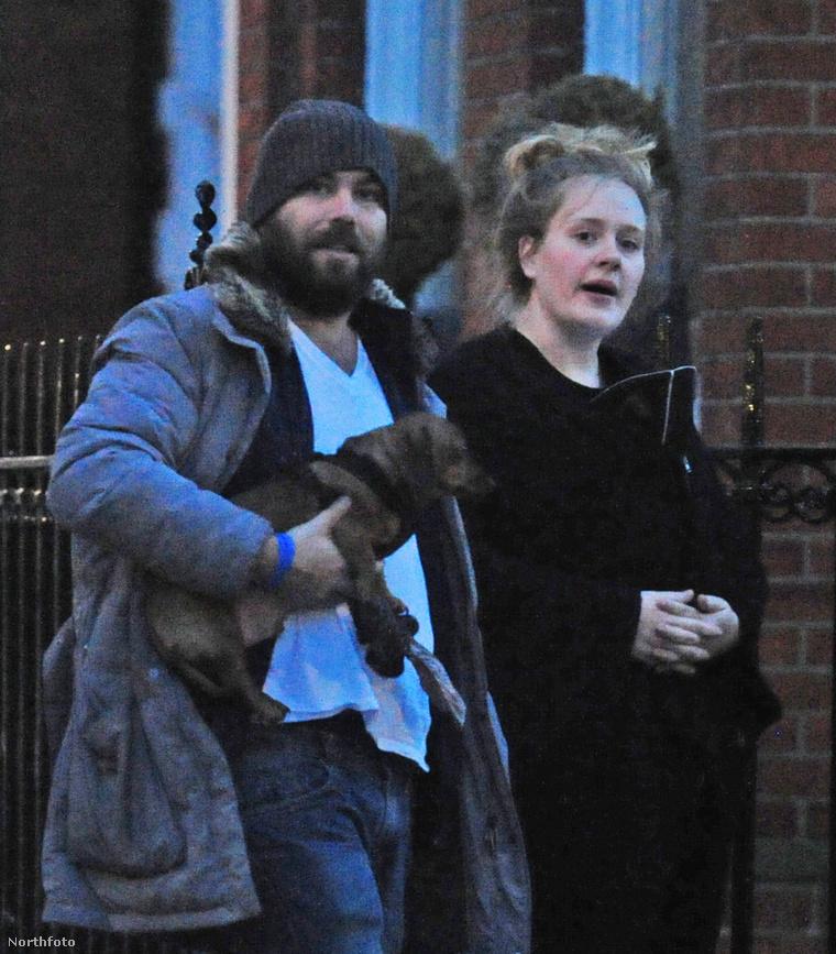 Simon Konecki és Adele.