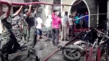 Megjöttek az első képsorok a Srí Lanka-i robbantás utóéletéről