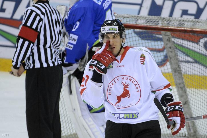 Sofron István a budapesti Tüskecsarnokban játszott felkészülési mérkőzésen 2019. április 17-én.