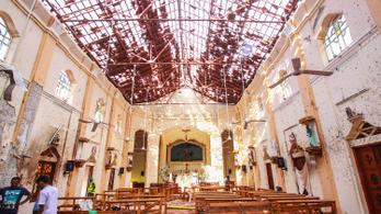 Nyolc robbantásos merénylet 290 emberéletet követelt Srí Lankán