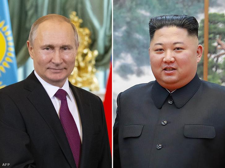 Vlagyimir Putyin és Kim Dzsongun