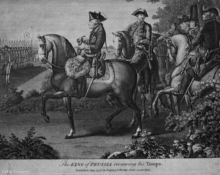 II. Frigyes porosz király seregszemlét tart