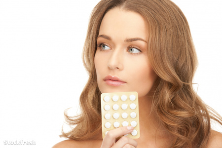 stockfresh 896279 young-beautiful-woman-with-pills sizeM