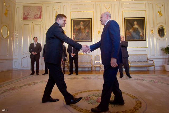 Robert Fico és Ivan Gašparovič
