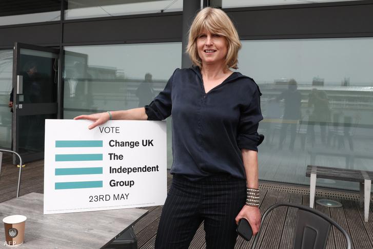 Rachel Johnson, a Change UK párt jelöltje Bristolban 2019. április 23-án
